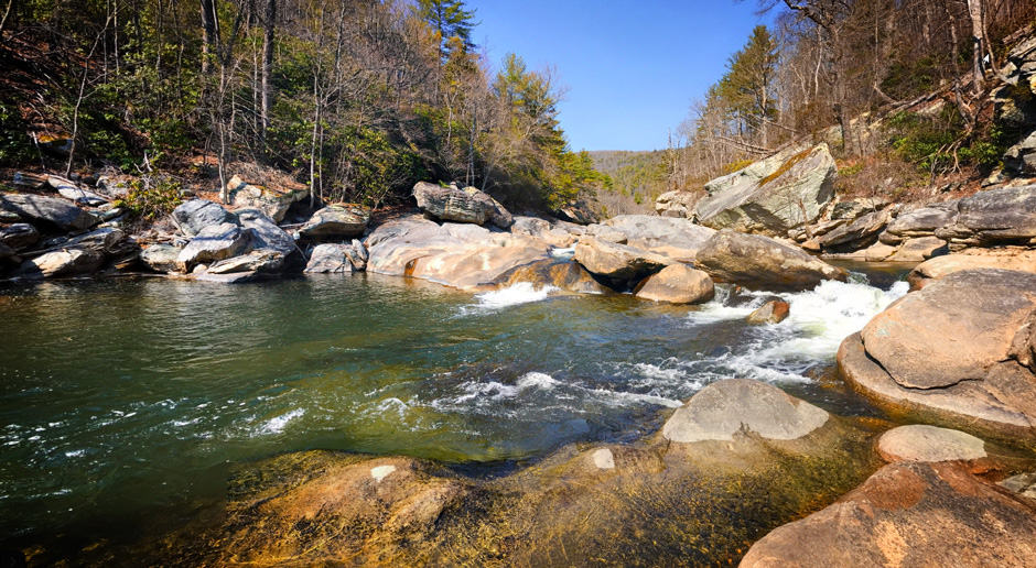 Trout fishing on Linville River