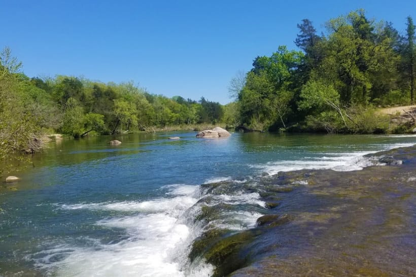 Trout fishing in Blue River (OK)