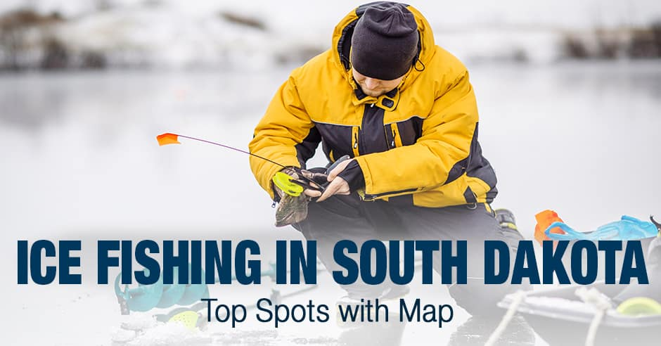 Ice Fishing in South Dakota (SD) - Top Spots with Map